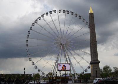 Place de la Concorde, Paris' largest square at the end of the Champs-Elysees