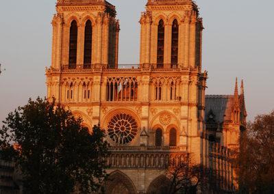 Notre Dame, a historic cathedral on Ile de la Cite known for its Gothic architecture