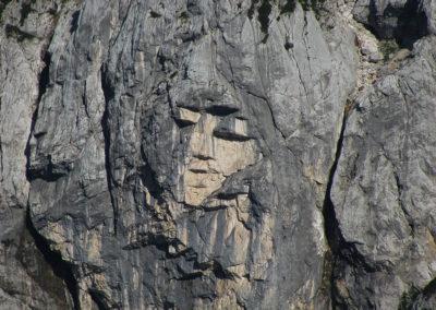Ajdovska deklica,severna stena Prisanka, Slovenia
