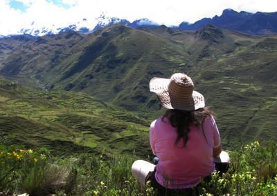 Od prelaza se tri dni spuščamo po poti, ki so jo zgradili Inki.