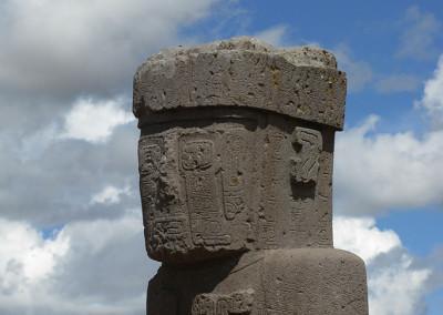 Tiwanaku leži dobrih 20 km od obale jezera Titikake.